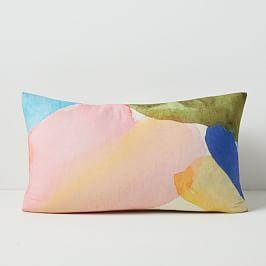 Sheer Brushstrokes Silk Cushion Cover