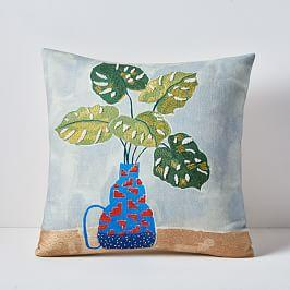 Tropical Arrangement Cushion Cover