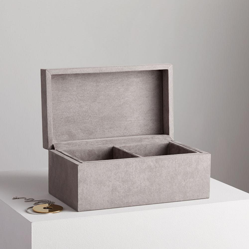 Faux Suede Decorative Boxes