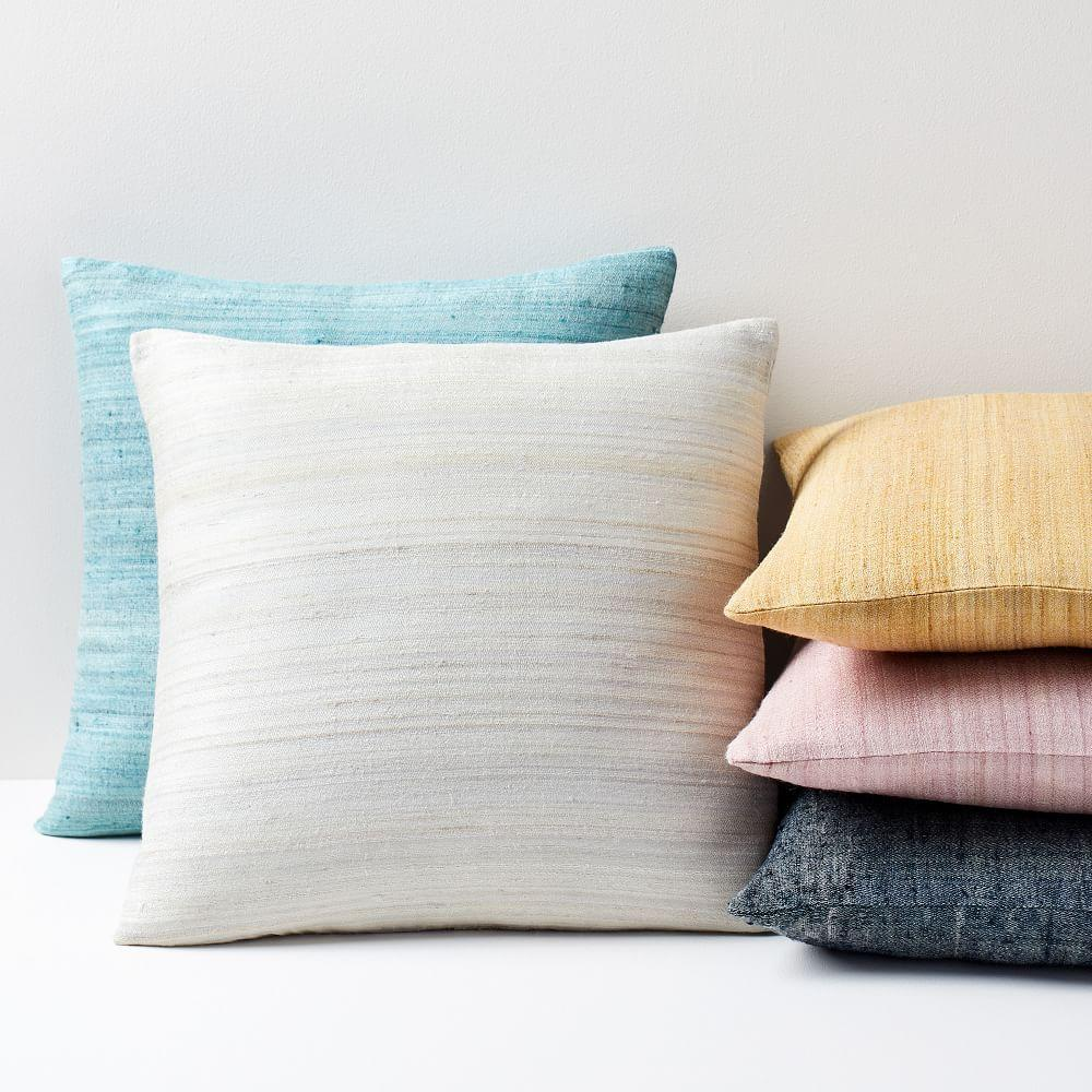 Woven Silk Cushion Covers