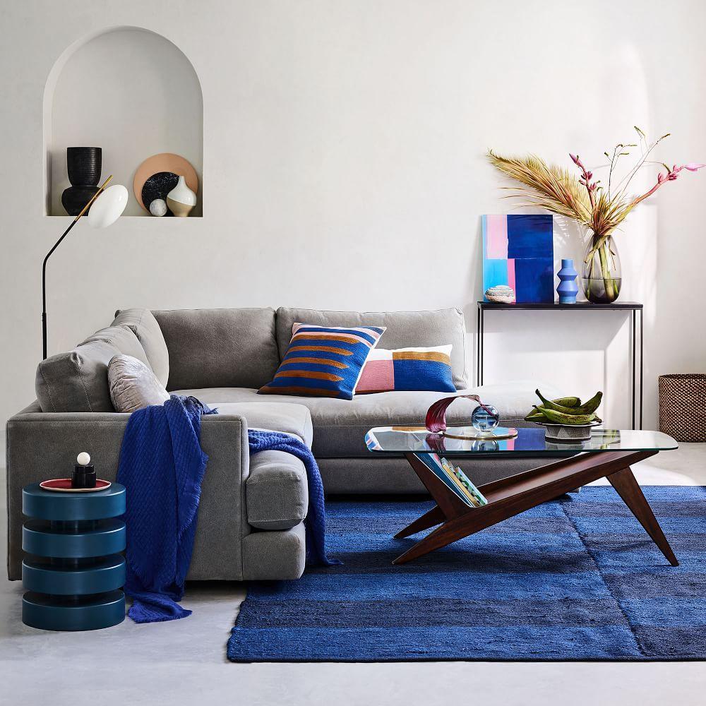 Floating Disks Side Table - Petrol Blue