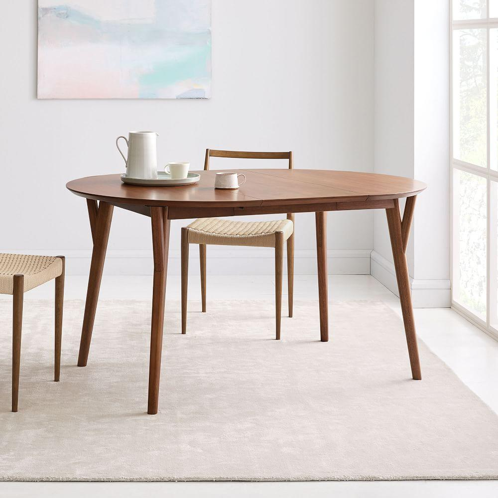 Mid-Century Expandable Dining Table - Round