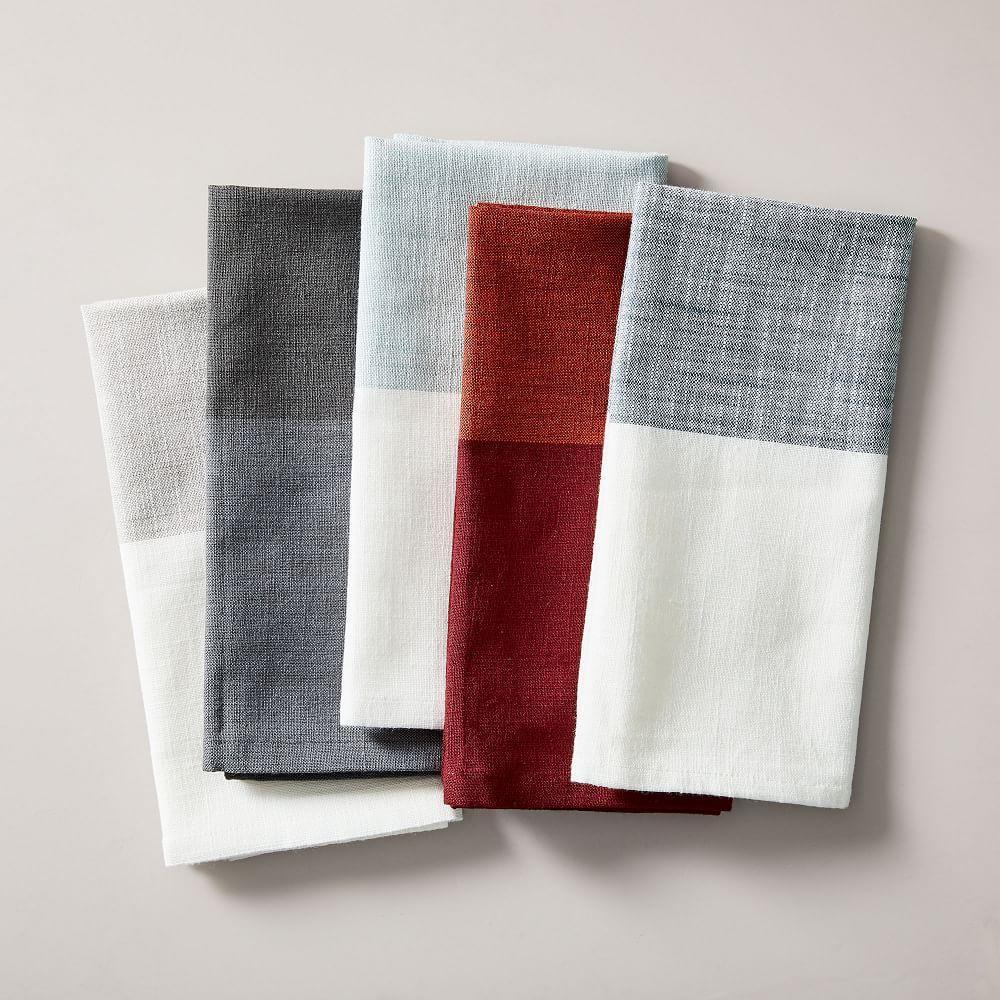 Centre Stripe Woven Napkin Set