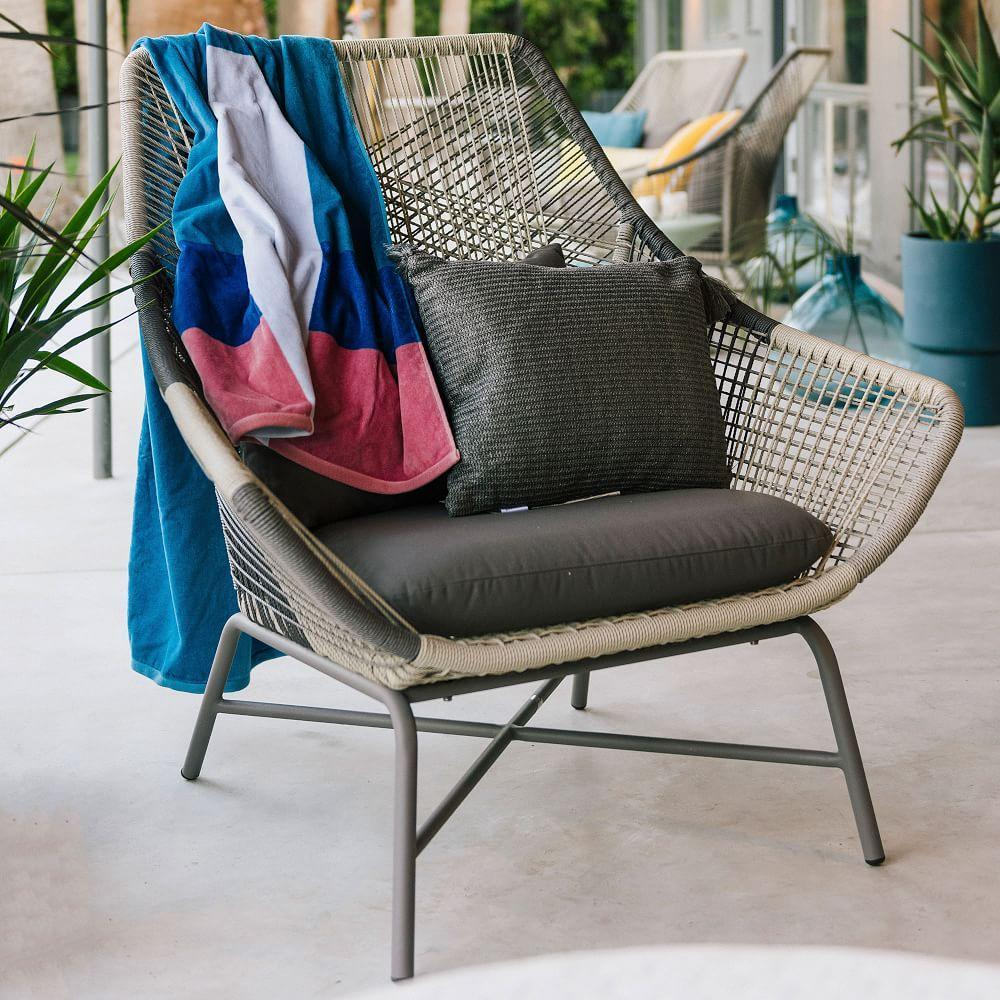 Huron Outdoor Large Lounge Chair + Cushion