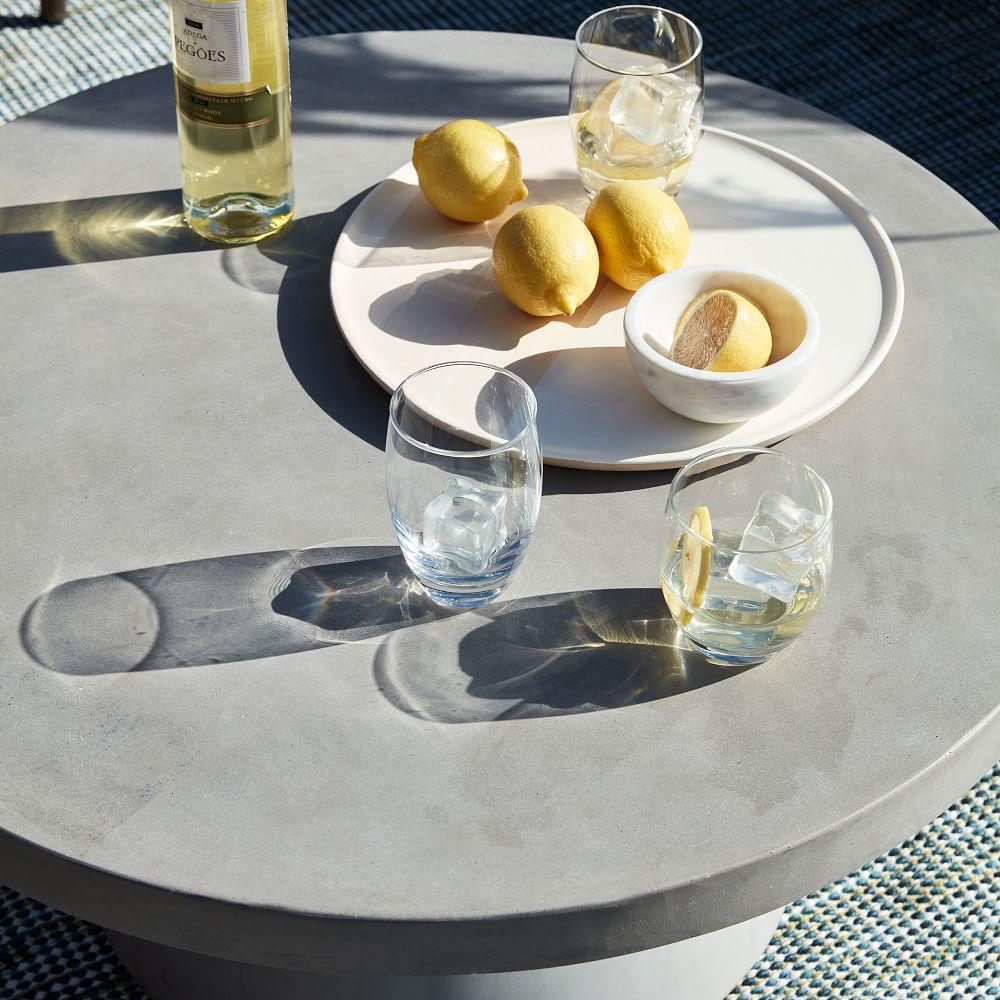 Outdoor Pedestal Coffee Table