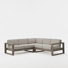 Portside Outdoor 3-Piece Sectional - Weathered Grey