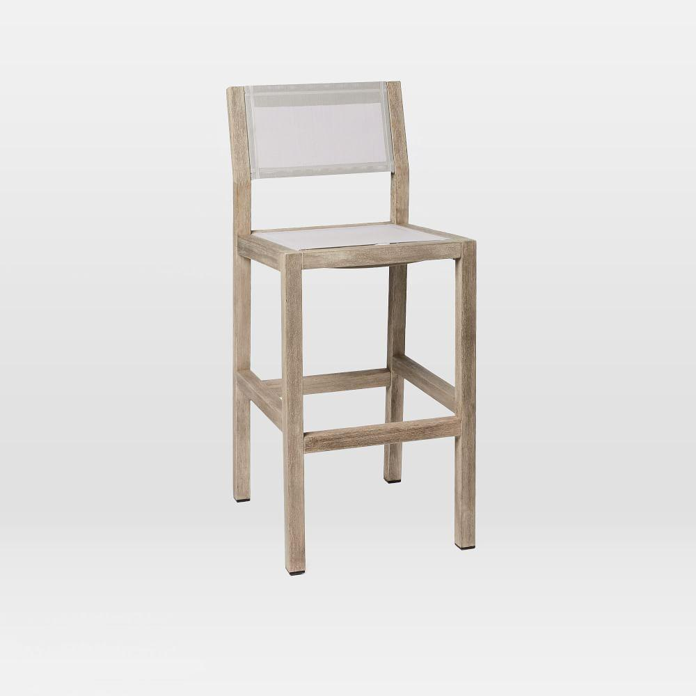 Portside Outdoor Counter Stool - Weathered Grey