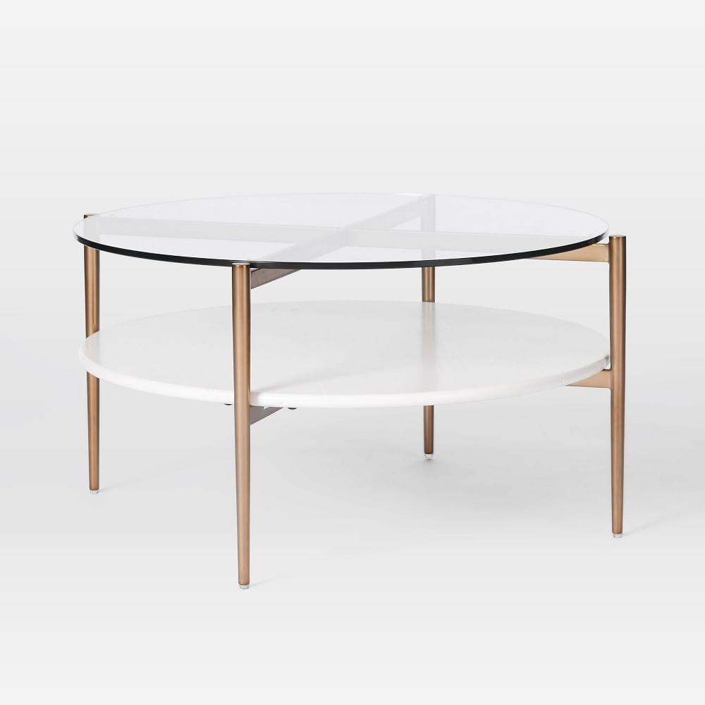 Mid-Century Art Display Round Coffee Table - Cloud