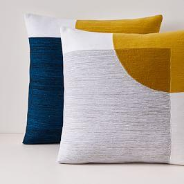 Crewel Overlapping Shapes Cushion Covers