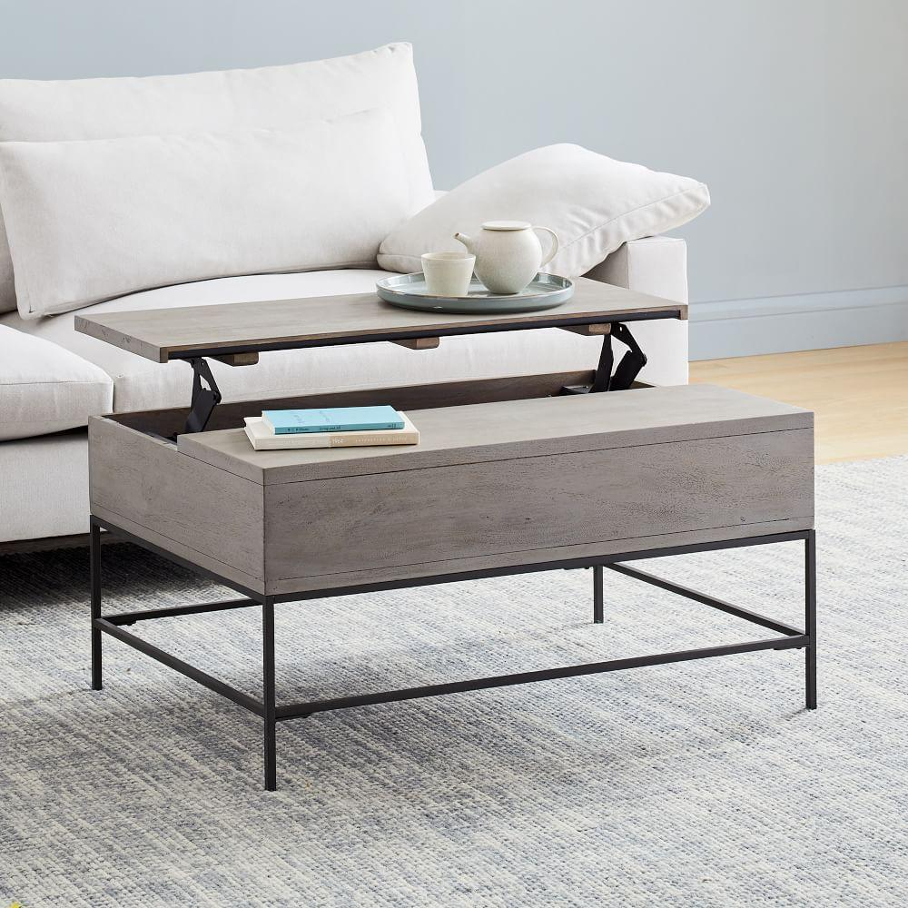 Industrial Storage Pop-Up Coffee Table - Grey