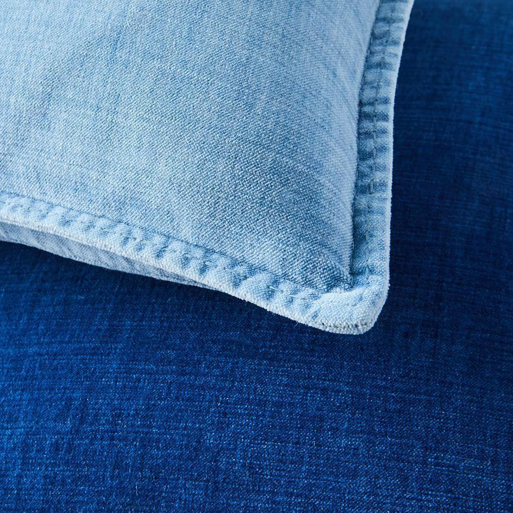 Cotton Velvet Indigo Cushion Covers