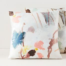 Gilded Watercolour Brocade Cushion Covers