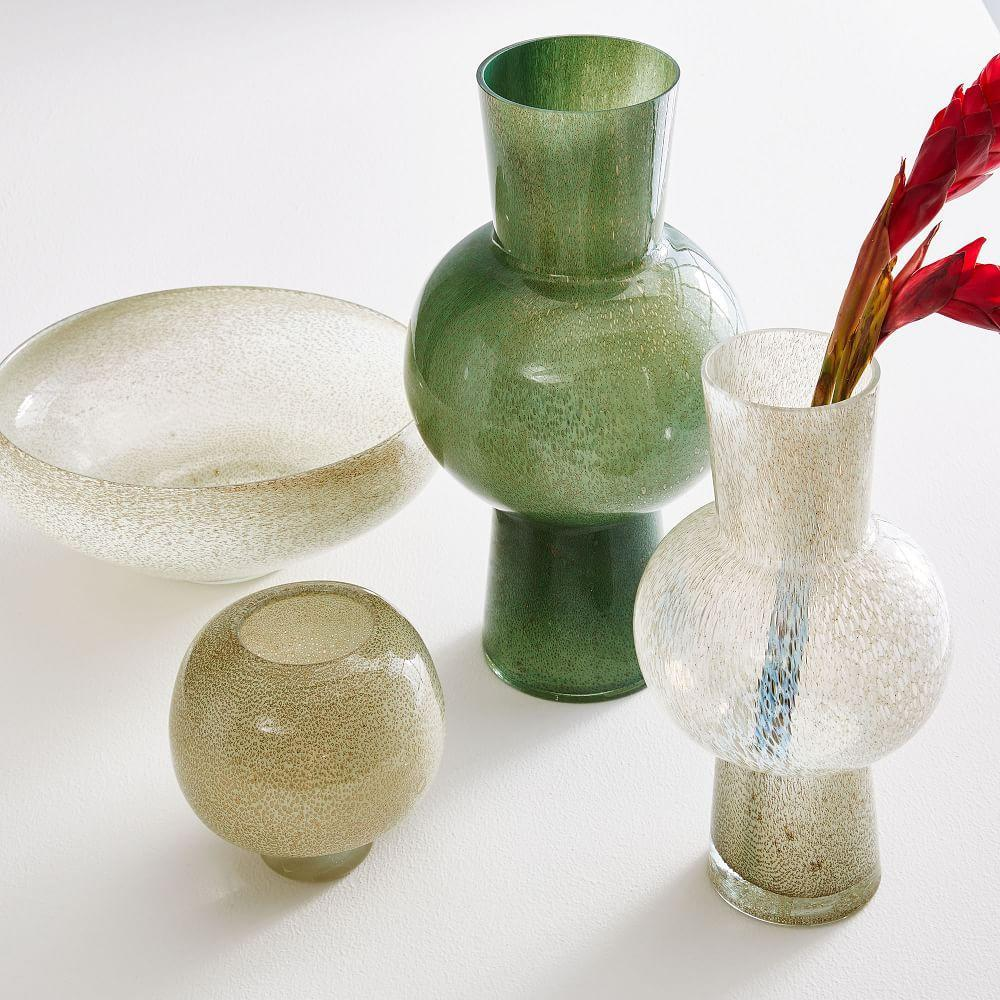 Jade Coloured Glass Vases