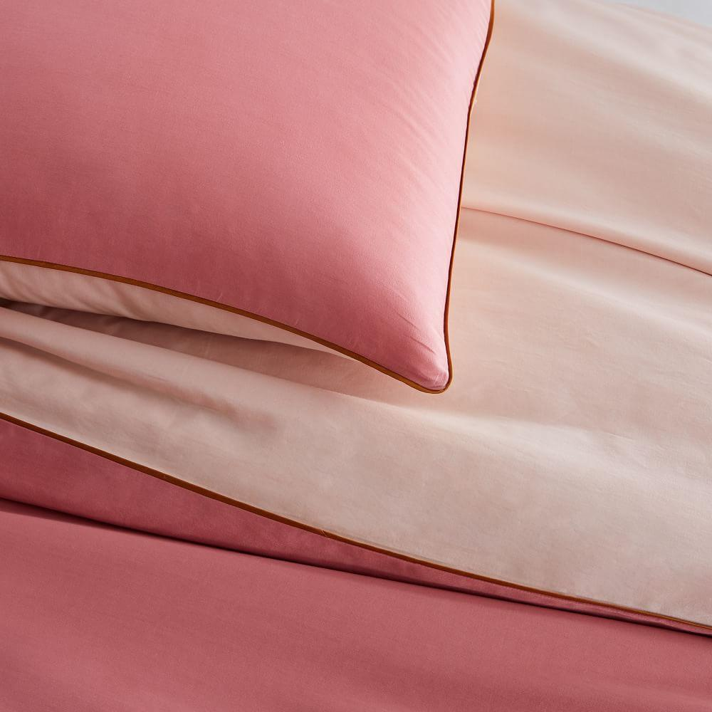 Organic Sateen Reversible Quilt Cover + Pillowcases
