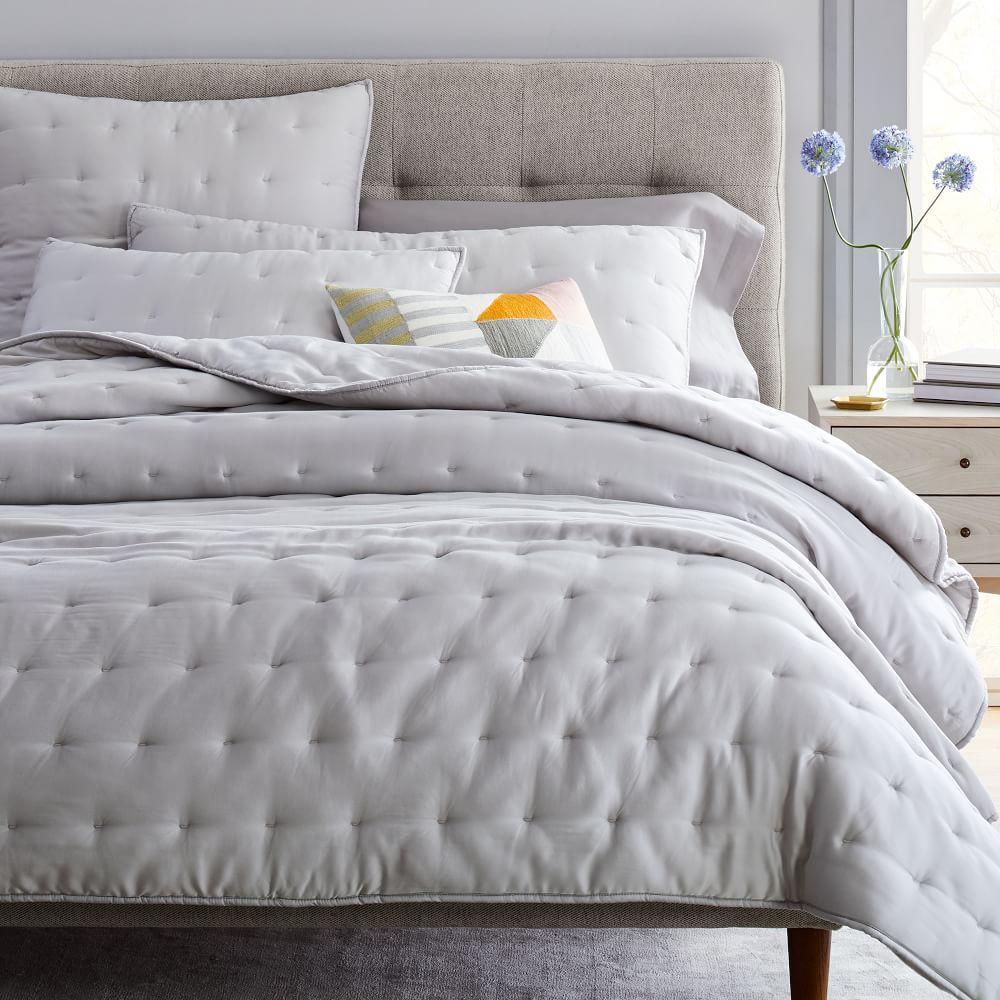 TENCEL™ Crescent Stitch Coverlet + Pillowcases