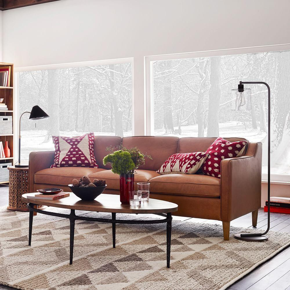 hamilton leather sofa 206 cm west elm australia. Black Bedroom Furniture Sets. Home Design Ideas