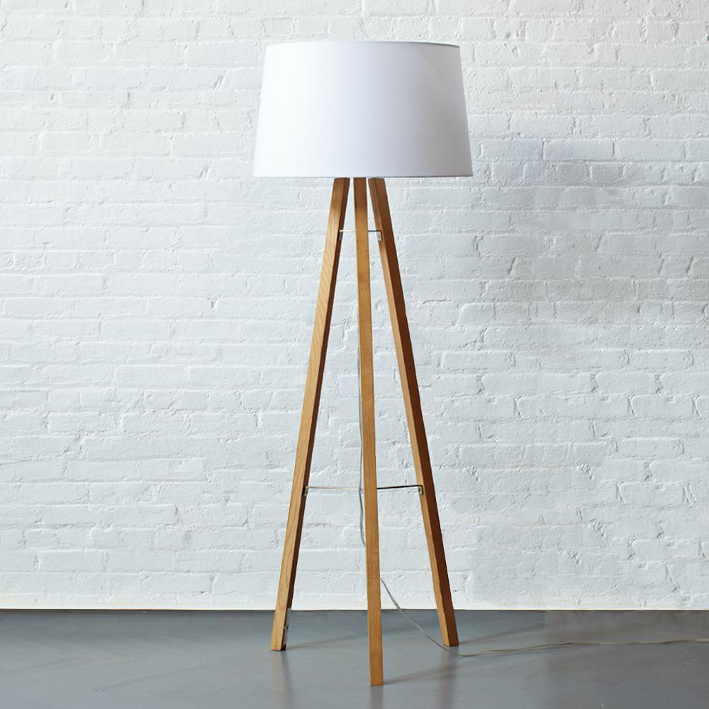 Tripod Wood Floor Lamp West Elm Australia