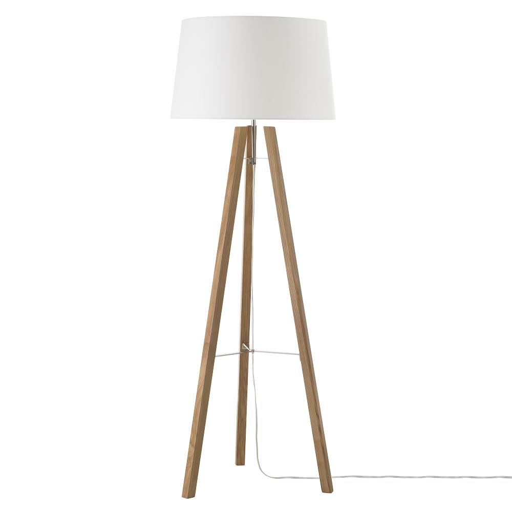 Tripod Wood Floor Lamp West Elm Au