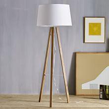 Floor lamps west elm australia tripod wood floor lamp aloadofball Image collections