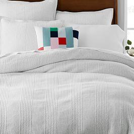 Cotton Cloud Jersey Quilt Cover + Pillowcases - Light Heather Grey
