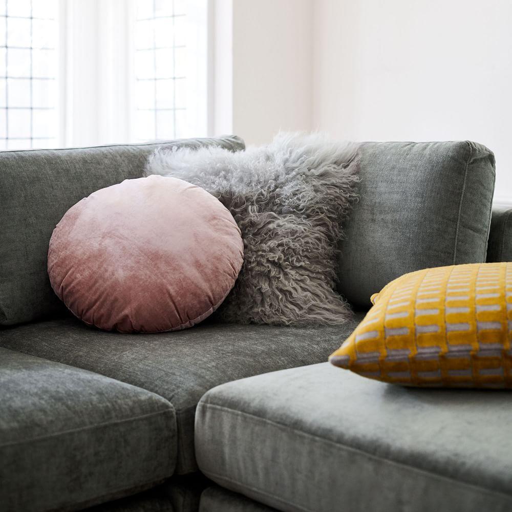 Round Lush Velvet Cushions