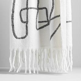 Embroidered Soft Touch Throw