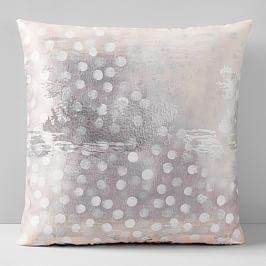 Falling Snow Brocade Cushion Cover