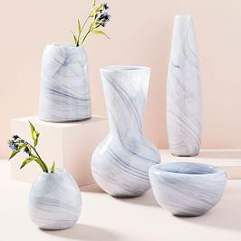 Marbled Glass Vases