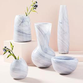 Marbled Glass Vases