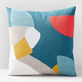 Corded Abstract Puzzle Cushion Cover