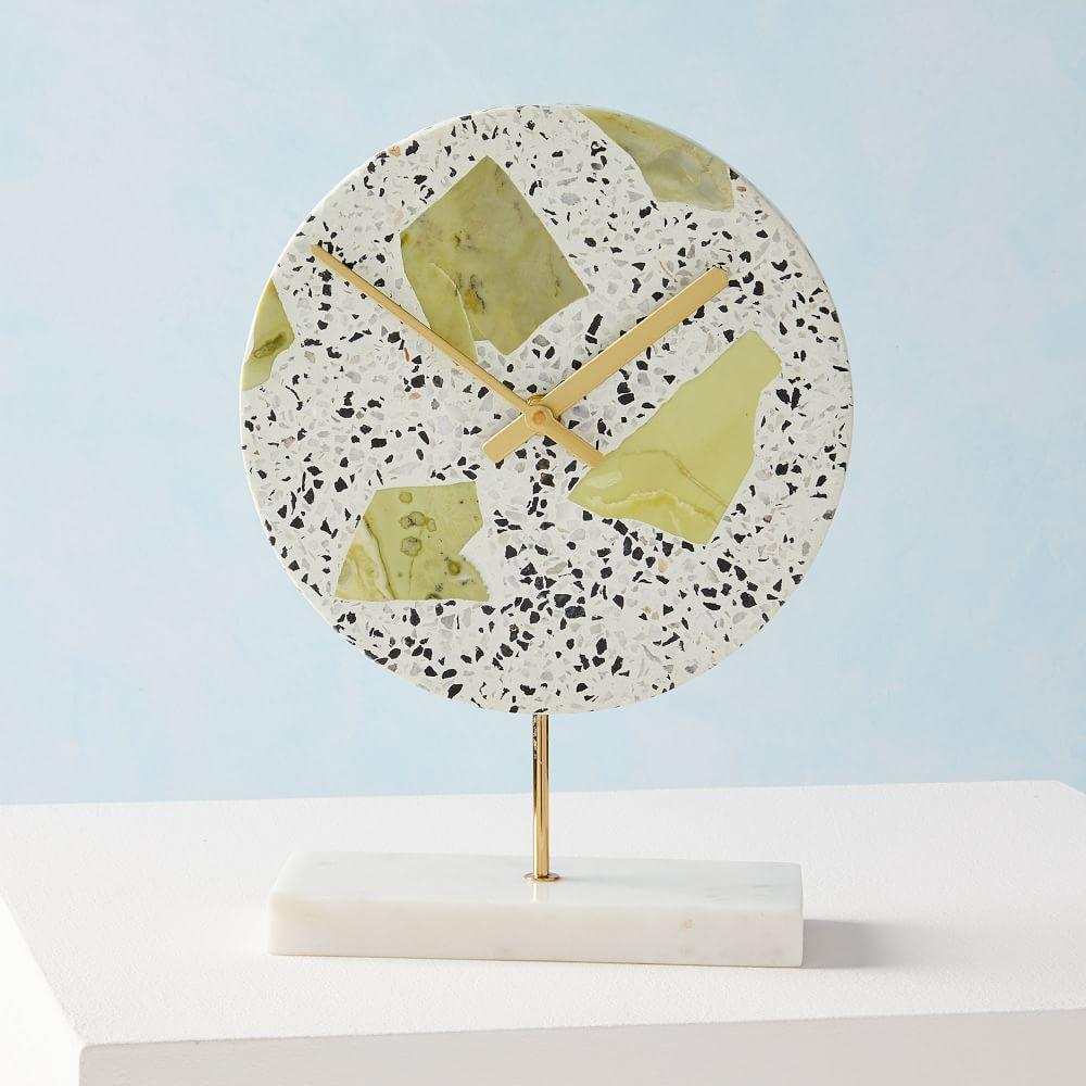Deco Clock - Speckled Stone