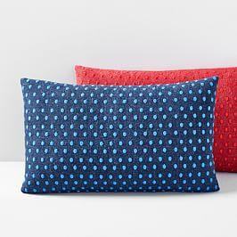 Embroidered Dot Lumbar Cushion Cover