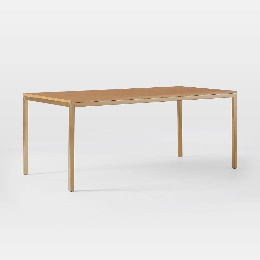 Frame Dining Table - Caramel/Antique Brass