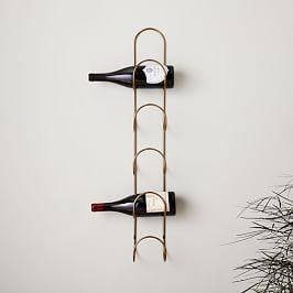 Loop Wine Rack - Brass