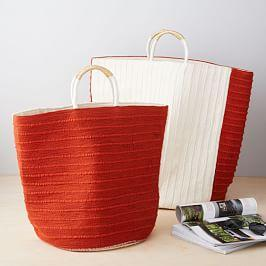 Soft Corded Two-Toned Baskets