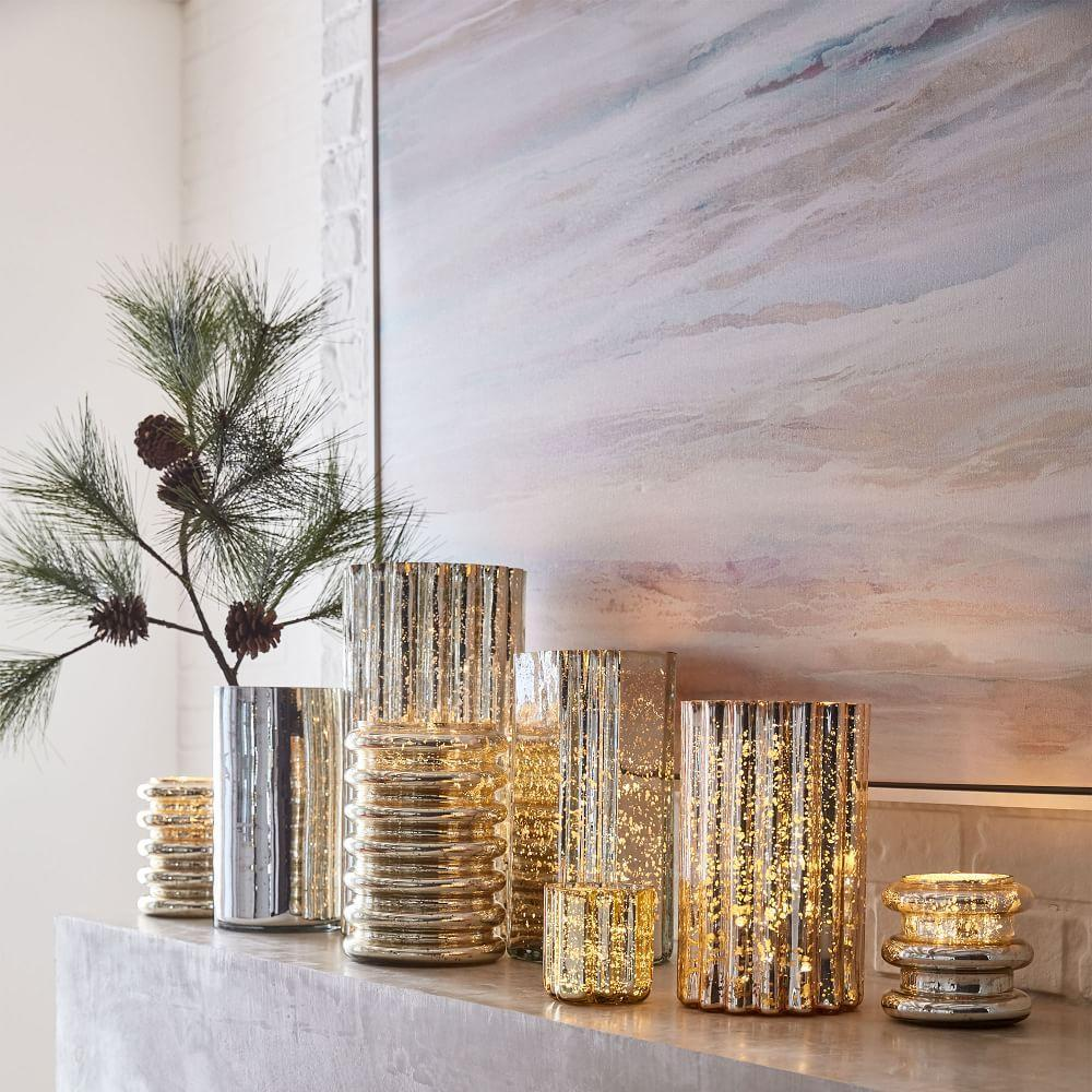 Stacked Mercury Silver Candles - Cashmere Tonka
