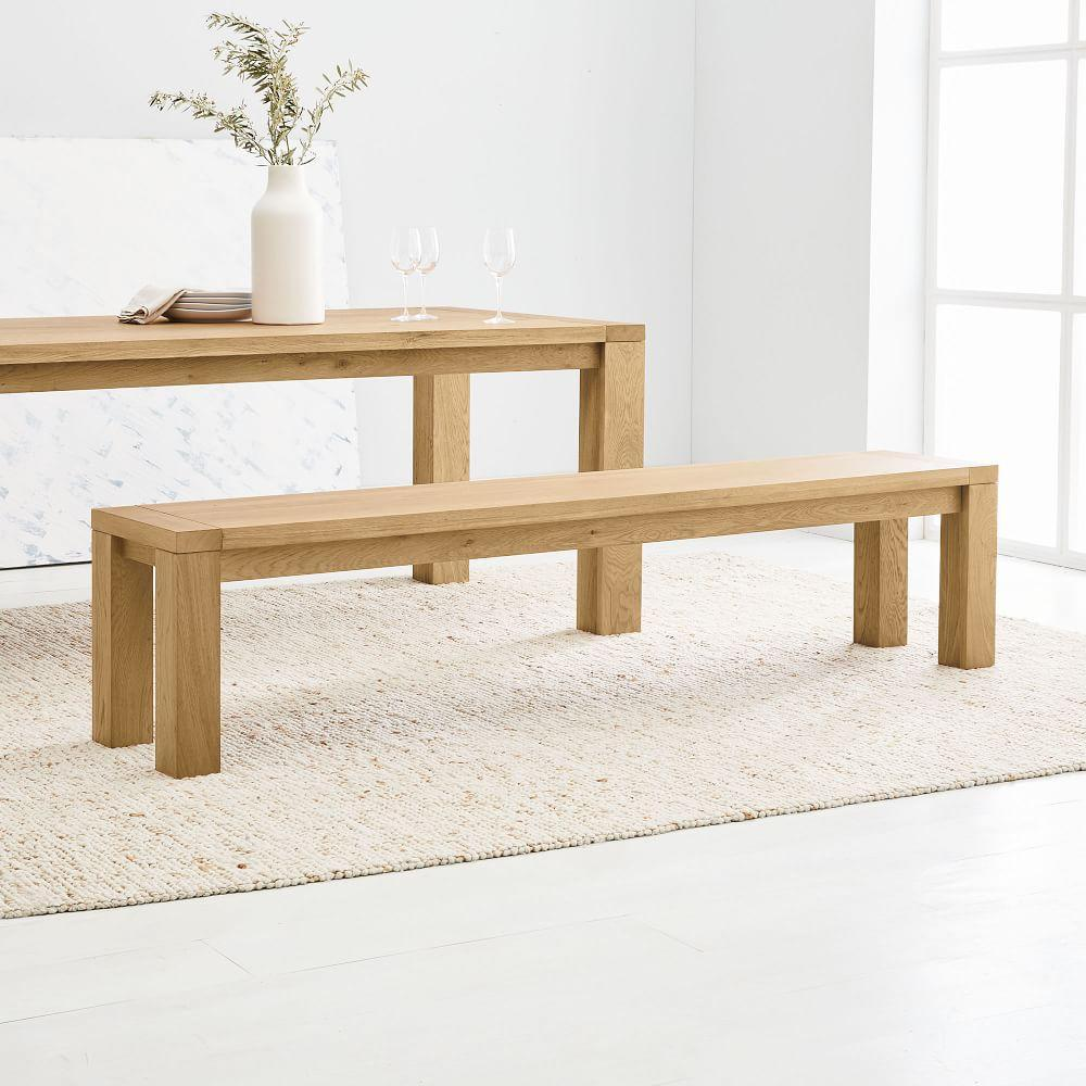 Tahoe Solid Wood Dining Bench - Natural Oak