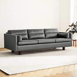 Aston Leather 3 Seater Sofa (220 cm)