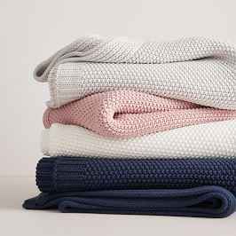 Cotton Knit Throws