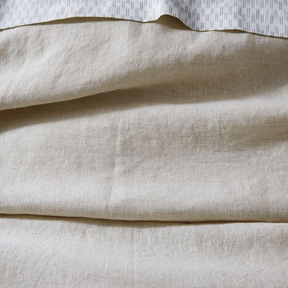 Belgian Flax Linen Quilt Cover + Pillowcases- Natural Flax