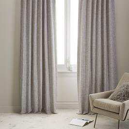 Crossweave Curtain + Blackout Lining - Stone White