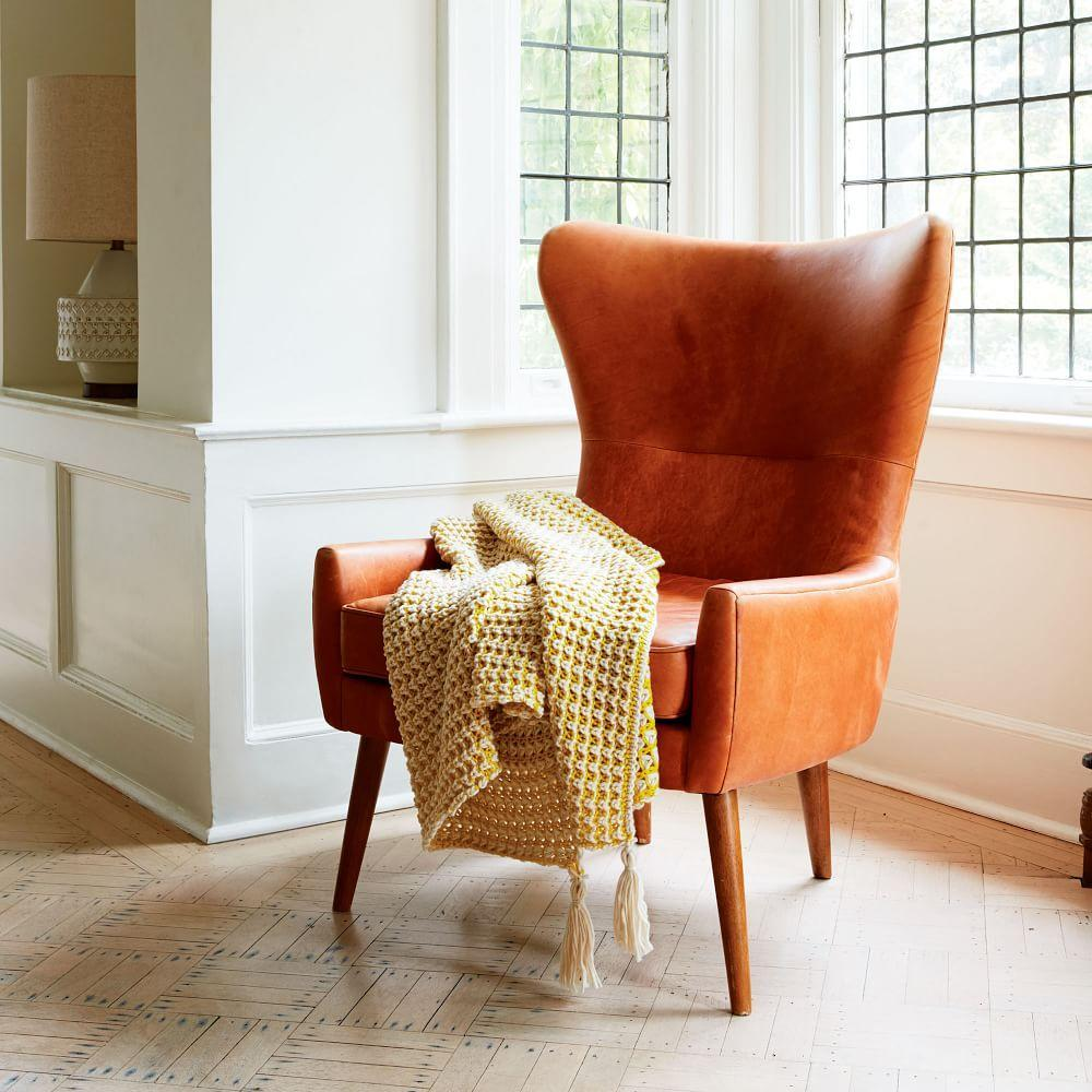 Erik Leather Wing Chair