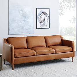 Hamilton 3 Seater Leather Sofa (206 cm)