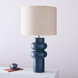 Modern Totem Table Lamp - Petrol Blue (69 cm)