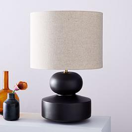 Modern Totem Table Lamp-Black (55 cm)
