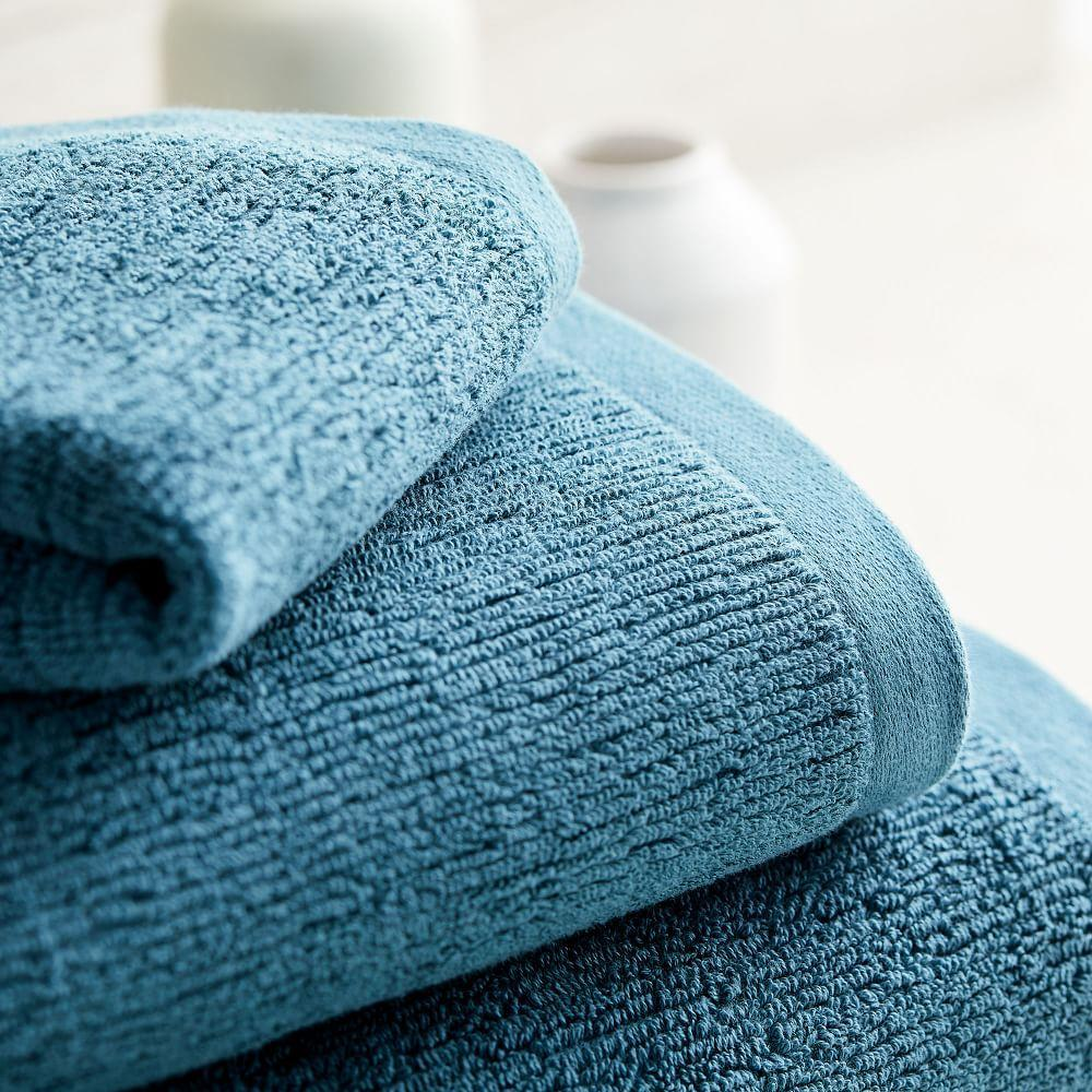 Organic Textured Towels - Ethereal Blue