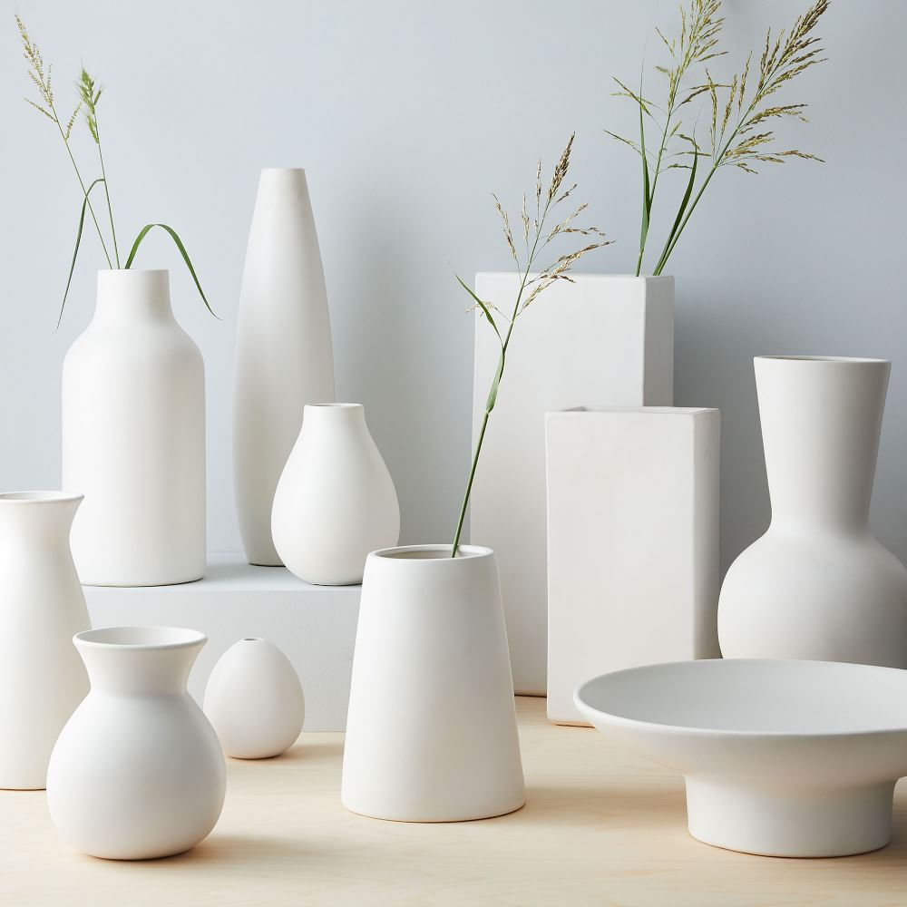 Pure White Ceramic Vases