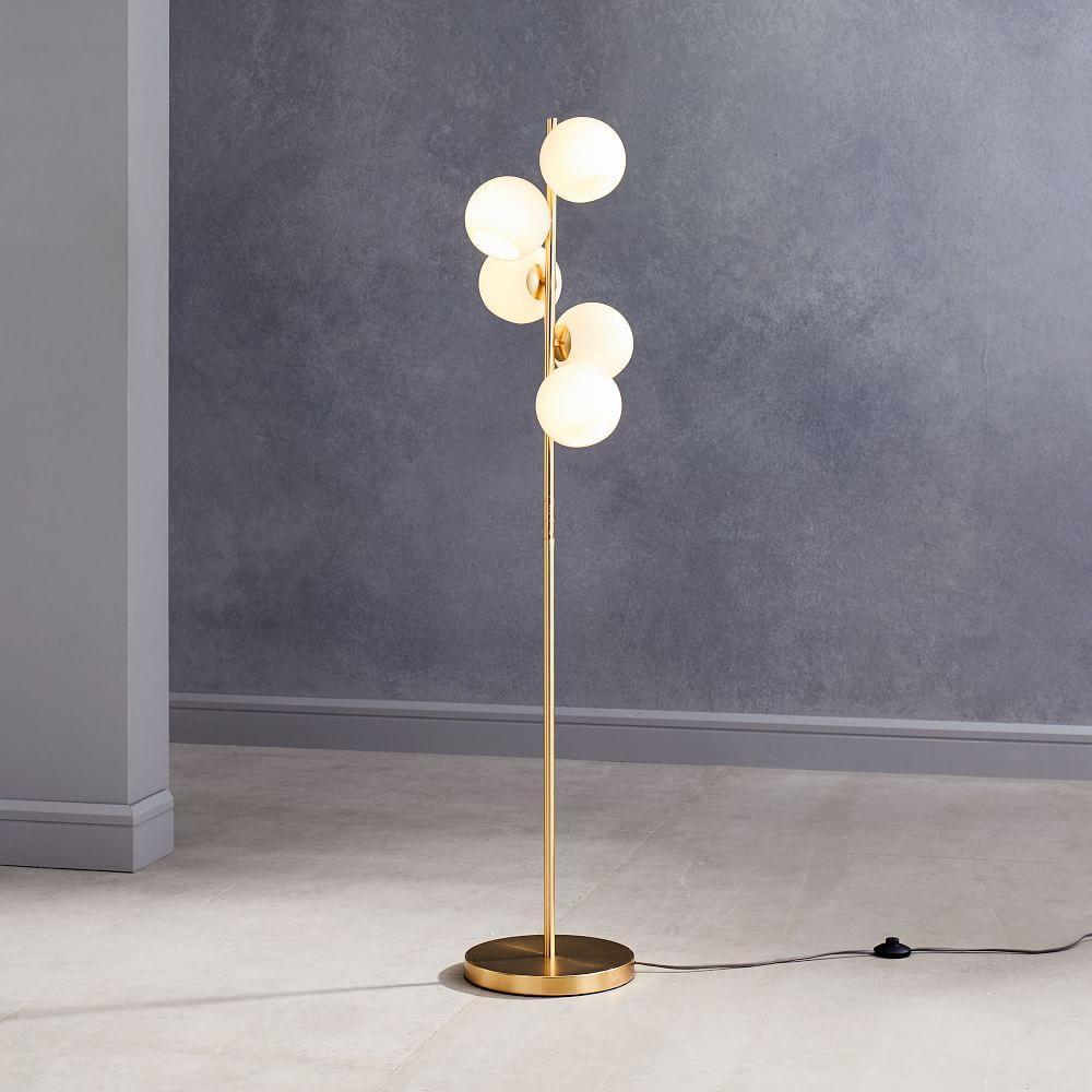 Staggered Glass Floor Lamp - 5-Light