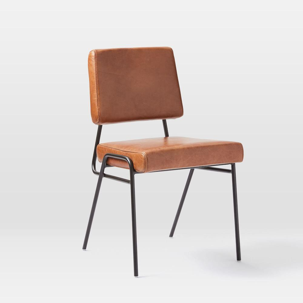 Wire Frame Leather Dining Chair