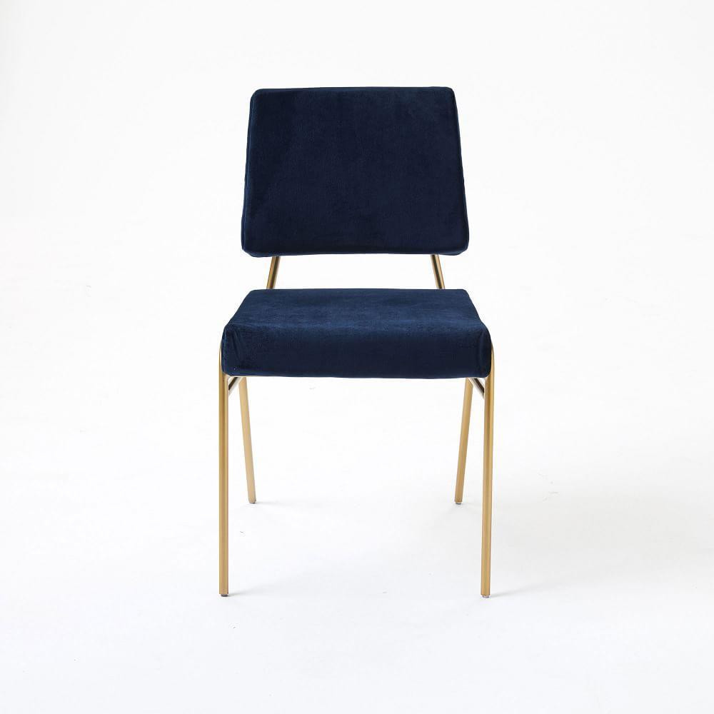 Wire Frame Velvet Dining Chair